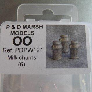 PD Marsh Milchkannen (Baugröße H0/OO, Weißmetall)