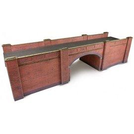 Metcalfe Spoorbrug in rode baksteen (Schaal H0/00, Karton)