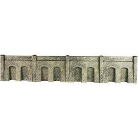 Metcalfe Arkadenstützmauer in grauem Stein (Baugröße H0/OO)