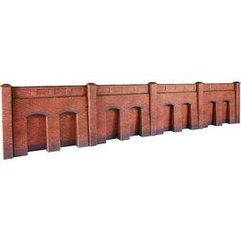 Metcalfe Steun-, galerijmuren in rode baksteen (Schaal H0/00, Karton)