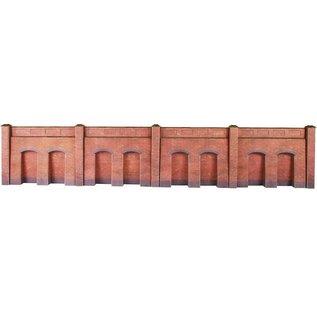 Metcalfe Metcalfe PO244 Arkadenstützmauer in rotem Backstein (Baugröße H0/OO)
