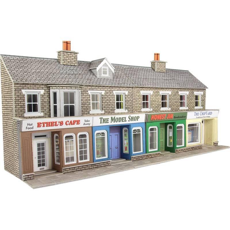 Kleine Winkel Küchenzeile ~ metcalfe voorzijde kleine winkels in grijze steen (schaal