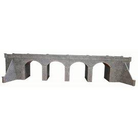 Metcalfe Zweigleisiges Viadukt in grauem Stein (Baugröße H0/OO)