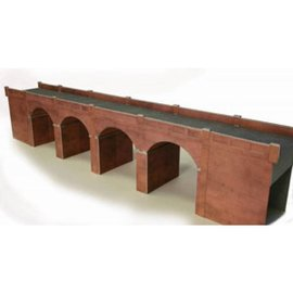 Metcalfe Metcalfe PO240 Dubbelspoors viaduct in rode baksteen (Schaal H0/00, Karton)