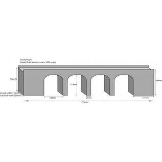 Metcalfe Metcalfe PO241 Stone viaduct (H0/OO gauge)