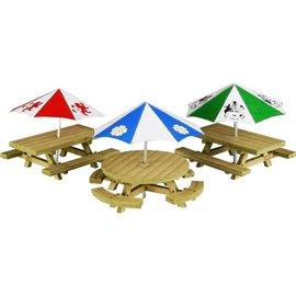 Metcalfe Picnic tafels (Schaal H0/00, Karton)