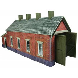 Metcalfe PO331 Single track engine shed in red brick