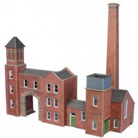 Metcalfe PO284 Boiler house & factory entrance