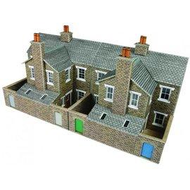 Metcalfe Metcalfe PO277 Low relief terraced stone house backs (H0/OO gauge)