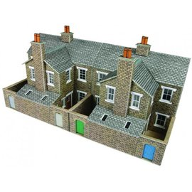Metcalfe PO277 Low relief terraced stone house backs