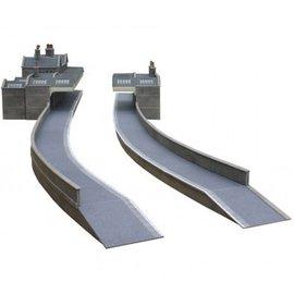 Metcalfe Bahnsteig aus grauem Baustein (Baugröße H0/OO)