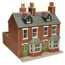Metcalfe Rijtjeshuizen in rode baksteen (Schaal H0/00, Karton)