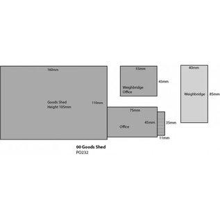 Metcalfe PO232 Goods shed (H0/OO gauge)