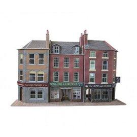 Metcalfe Metcalfe PO205 Zwei Läden und Kneipe (Relief/Hintergrundmodell) (Baugröße H0/OO)