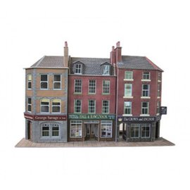 Metcalfe PO205 Low relief pub and shops (H0/OO gauge)