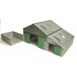 Metcalfe Moderne Bauernscheune (Baugröße H0/OO)
