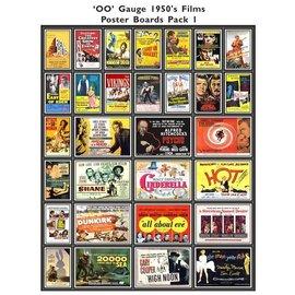 Trackside Signs Filmposters 1950's Deel 1 (Schaal H0/00, Stickers)