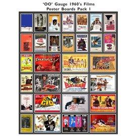 Trackside Signs Kino-Werbungsposter aus den 60ern (Serie 1) (Baugröße H0/OO)