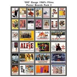 Trackside Signs Filmposters 1960 Deel 2 (Schaal H0/00, Stickers)