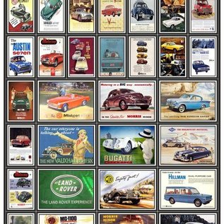 Trackside Signs Autoreclame-posters (Schaal H0/00, Stickers)