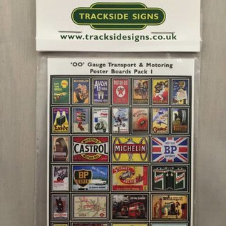Trackside Signs Transport-reclame-posters (Schaal H0/00, Stickers)