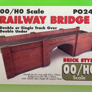 Metcalfe Metcalfe PO246 Spoorbrug in rode baksteen (Schaal H0/00, Karton)