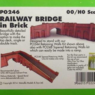 Metcalfe Metcalfe PO246 Eisenbahnbrücke in rotem Backstein (Baugröße H0/OO)