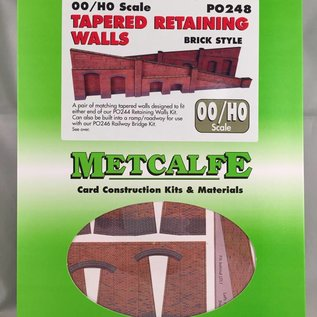 Metcalfe PO248 Tapered retaining wall in red brick