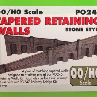 Metcalfe Metcalfe PO249 Op- afrit in grijze steen (Schaal H0/00, Karton)