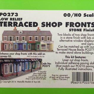 Metcalfe Metcalfe PO273 Low relief stone shop fronts (H0/OO gauge)