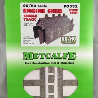 Metcalfe Metcalfe PO332 Enkelspoors lokloods in grijze steen (Schaal H0/00, Karton)