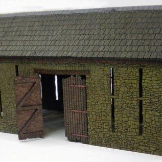 Ancorton Models Große historische Bauernscheune (Spur H0/OO)