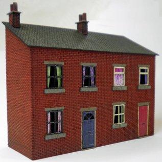 Ancorton Models Voorzijde rijtjeshuizen (schaal H0/00, lasercut)