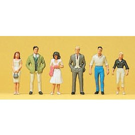 Preiser Passers-by, 6 pieces kit, scale H0