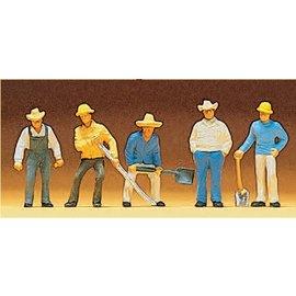 Preiser Gleisbauarbeiter, Satz von 5, Spur H0