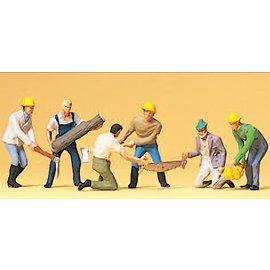 Preiser Waldarbeiter, Satz von 6, Spur H0