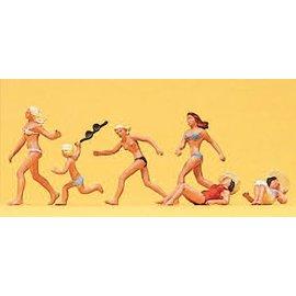 Preiser Am Strand, Satz von 6, Spur H0