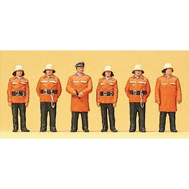 Preiser Feuerwehrmänner, Schutzanzug, Satz von 6, Spur H0