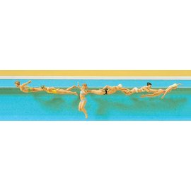 Preiser Swimmers, 6 pieces kit, scale H0