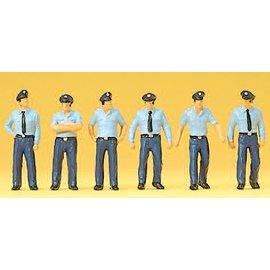 Preiser Feuerwehrmänner im Sommeruniform, Deutschland, Satz von 6, Spur H0