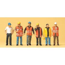 Preiser Arbeiter mit Warnweste.Satz von 6, Spur H0