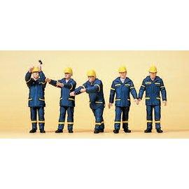 Preiser THW workers, um 1999, 5 pieces kit, scale H0