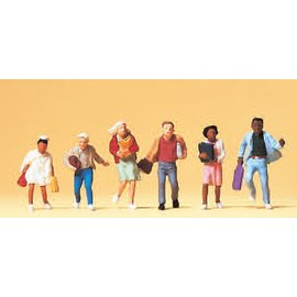 Preiser Pupils on the way home, 6 pieces kit, scale H0