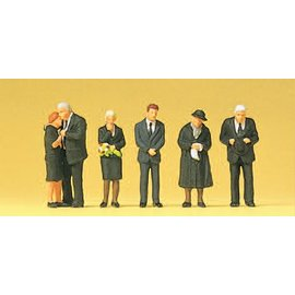 Preiser Funeral, 6 pieces kit, scale H0