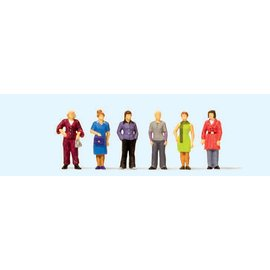 Preiser Standing women, 6 pieces kit, scale H0