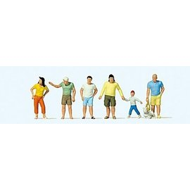 Preiser Summer passers-by, 6 pieces kit, scale H0