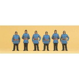 Preiser Feuerwehrmänner Um 1900, Satz von 6, Spur H0