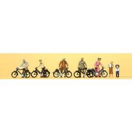 Preiser Staande fietsers rond 1900, Schaal H0