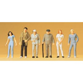 Preiser Standing passers-by, 6 pieces kit, scale H0