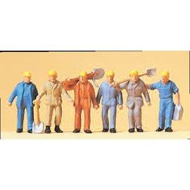 Preiser Spoorwerkers, Set van 6, Schaal H0